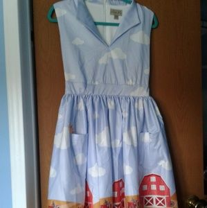 Lindy bop farm house print dress